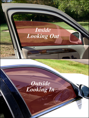 red automotive window film
